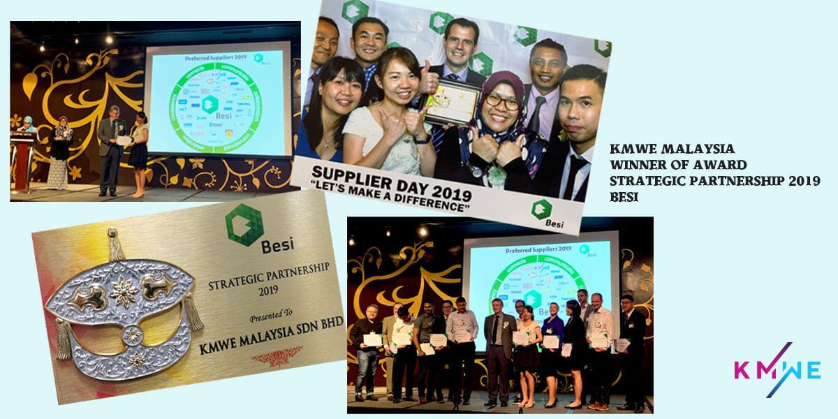 KMWE won Strategic Partnership 2019 award BESI.